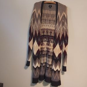 American eagle knee length knit cardigan